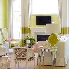 Contemporary Living Room by alisha gwen interior design