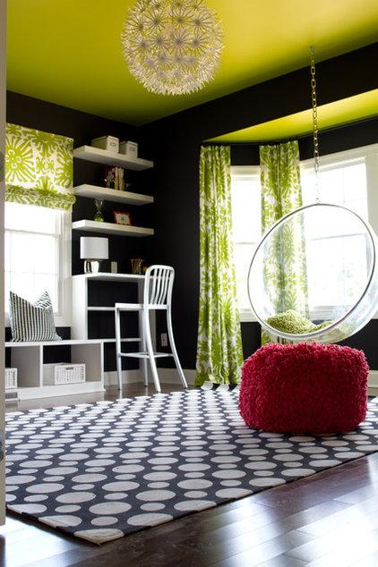eclectic living room by alisha gwen interior design