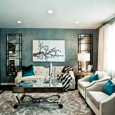 contemporary living room by Charles Neal Interiors