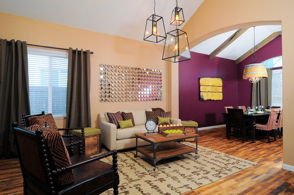 Eclectic Living Room by Kerrie L. Kelly