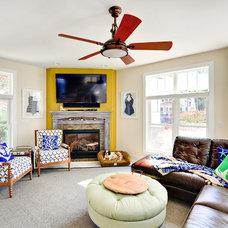 Beach Style Living Room by Echelon Custom Homes