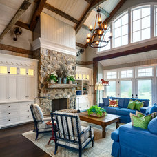 Farmhouse Family Room by DeLeers Construction, Inc.