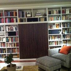 Modern Living Room Hidden Sherry Theatre Bookcase