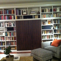 modern living room Hidden Sherry Theatre Bookcase