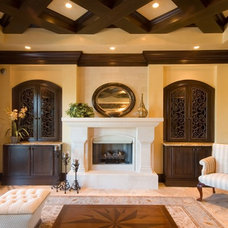 Mediterranean Living Room by Las Casitas Architecture and Interiors, LLC