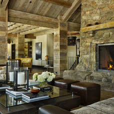 Rustic Living Room by LKID