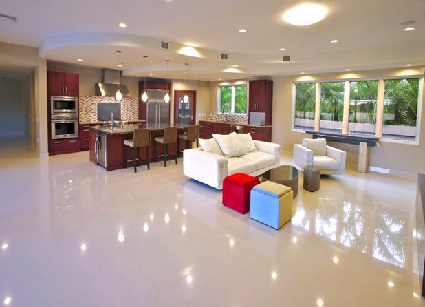 Contemporary Living Room by Hawaii Commercial Photography