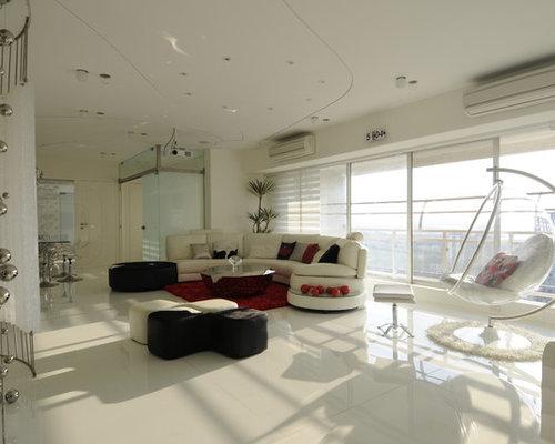 Ger umige wohnzimmer mit marmorboden ideen design bilder beispiele - Marmorboden wohnzimmer ...