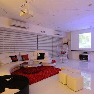 Foto di un soggiorno moderno