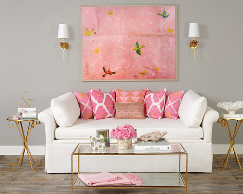 Our 11 Best Transitional Pink Living Room Ideas & Decoration ...