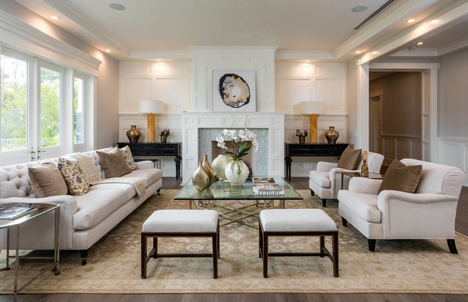 Transitional Living Room by Contract Development Inc.