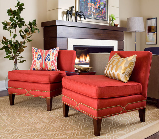 Traditional Living Room by Lisa Ferguson Interior Design