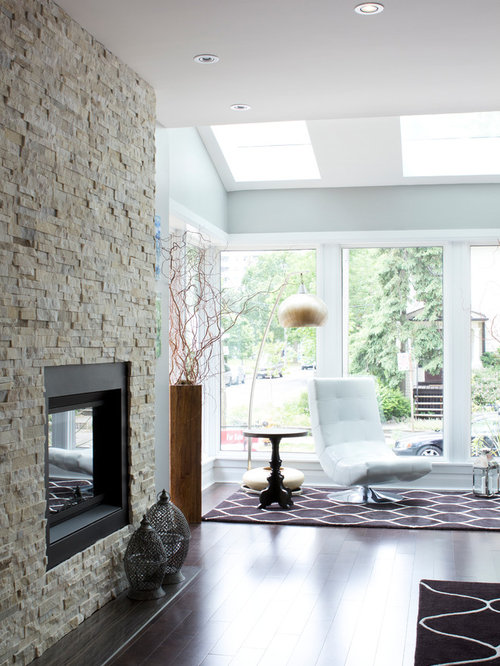 Stacked Stone Quartz Fireplace | Houzz