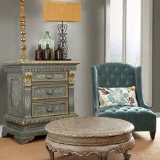 Mediterranean Living Room by PENINSULA