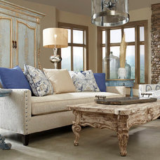 Mediterranean Living Room by PENINSULA