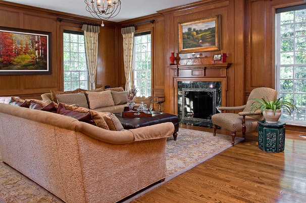 Traditional Living Room by Laura Redd Interiors