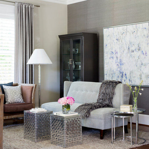 Silver Grey Living Room Ideas & Photos | Houzz
