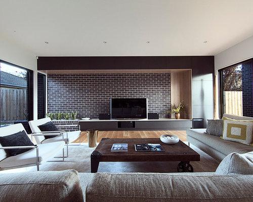 Modern living room design ideas remodels photos houzz for Modern 50s style living room