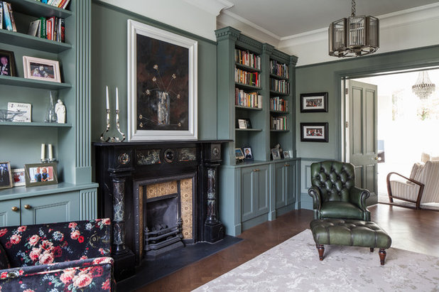 Traditional Living Room by Trevor Brown Architect