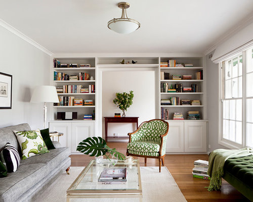 Photo Of A Medium Sized Classic Enclosed Living Room In Melbourne With A  Reading Nook, Part 57
