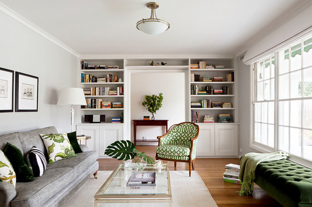 Transitional Living Room by Camilla Molders Design