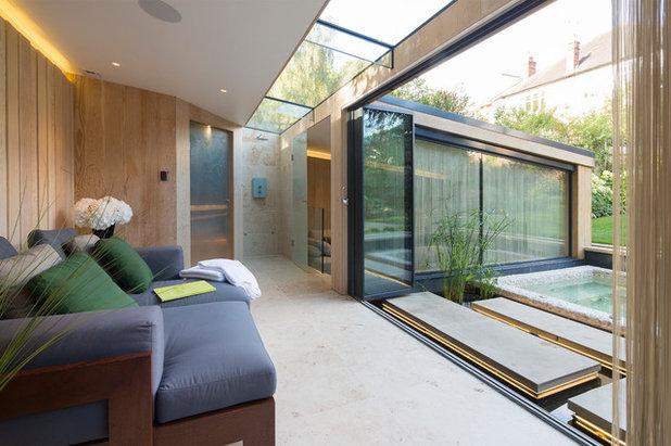 traumhafter luxus: ein privates spa in london, zwischen wald und, Garten und Bauen