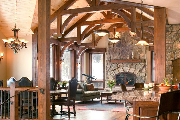 Rustic Living Room by bhh Partners Planners / Architects