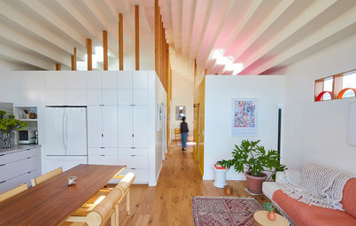 Houzz Tour: Skylights & Tall Ceilings Brighten a 850-Sq-Ft Home