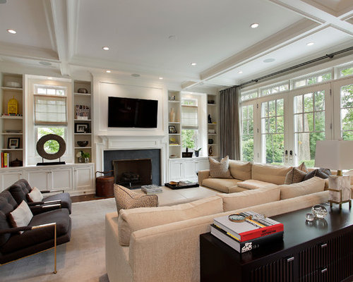 Built-ins Around Windows | Houzz