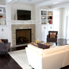 Traditional Living Room by Bria Hammel Interiors
