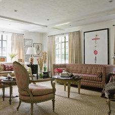 Eclectic Living Room by Jill Litner Kaplan Interiors