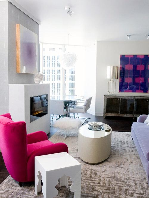 Moroccan Design Ideas contemporary moroccan interior design Contemporary Living Room Idea In San Francisco With White Walls And A Ribbon Fireplace