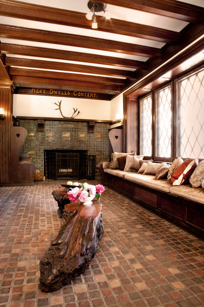 Traditional Living Room by Homestead Construction