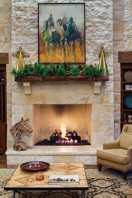 Farmhouse Living Room by Dawn Hearn Interior Design