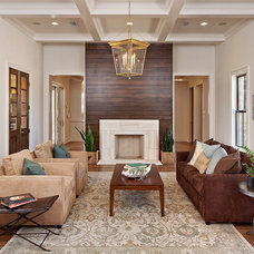 Transitional Living Room by Redbud Custom Homes