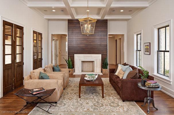 Transitional Living Room by Redbud Custom Homes