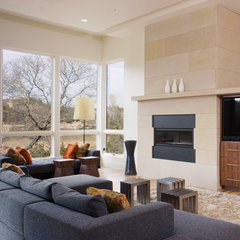 contemporary living room by Shoberg Custom Homes
