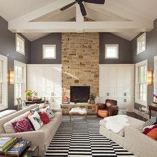 Eclectic Living Room by Vanguard Studio Inc.