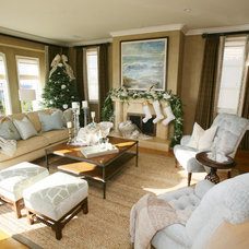 Traditional Living Room by Caroline Burke Designs & Associates, Inc.