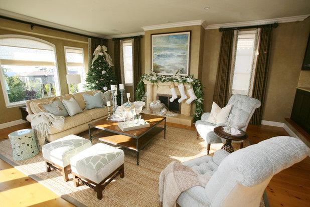 Traditional Living Room by Caroline Burke Designs & Associates, Inc.