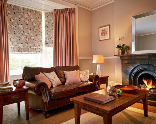 Modern Enclosed Living Room In Other With Grey Walls Carpet A Standard Fireplace And