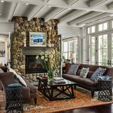 Beach Style Living Room by Whitten Architects