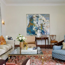 Mediterranean Living Room by Melanie Coddington