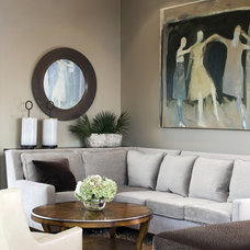 Transitional Living Room by Diedre Shaw Interiors