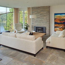 Contemporary Living Room by Paula Arsens Kitchen Design