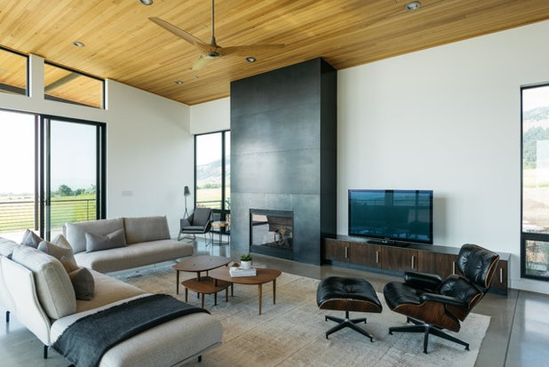 Contemporary Living Room by Intrinsik Architecture