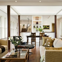 contemporary living room by Smith & Vansant Architects PC