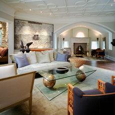 Contemporary Living Room by E. B. Mahoney Builders, Inc.