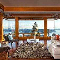 Living Room by Don Stuart Architect Inc