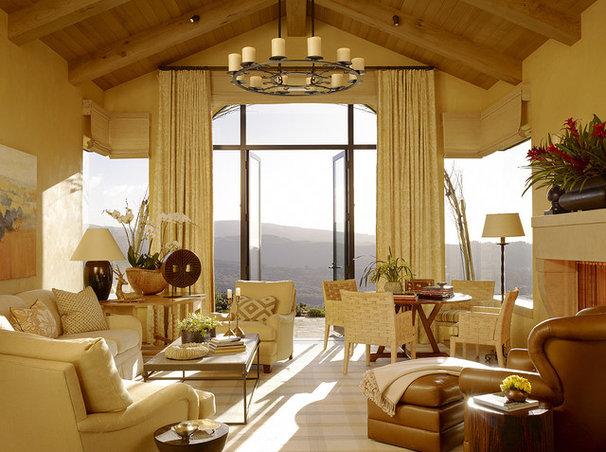 Mediterranean Living Room by Tucker & Marks